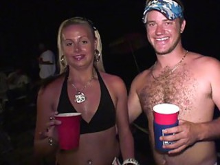 A Lot Of Alcohol And Hardcore Sex With A Hot Babe Outdoors