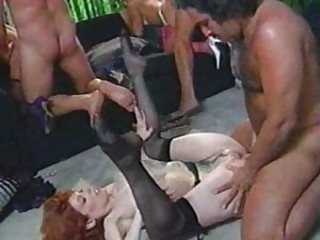 Classic group sex fun