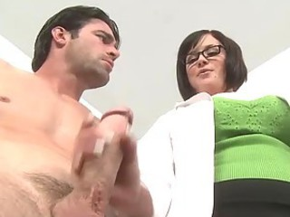 Horny Brunette Doctor Katie Kox with her Big Ass and Big Tits Having Sex