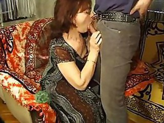 Mature lady with glasses likes getting banged from the back