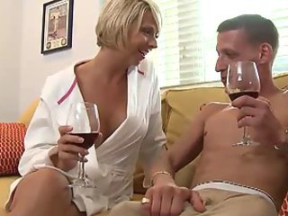 Blonde MILF Brianna Beach Fucking Her Daughter's Boyfriend's Big Dick