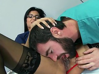 Bonerific Brunette Doctor Shazia Sahari Gets Fucked In Stockings