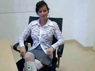 Brunette  Office Skirt