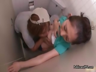 Asian Cute Japanese Lesbian Teen Toilet