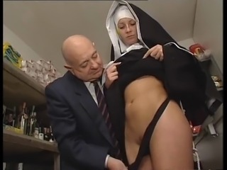 Cute Nun Old and Young Teen