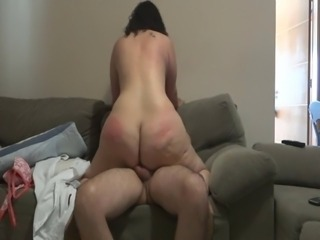 Ass Chubby MILF Riding Wife