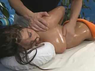 Busty Brunette Amber Alexis Gets An Erotic Massage