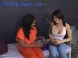 Ebony Interracial Lesbian Prison Teen Uniform