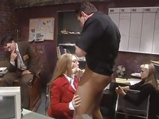 Horny office slut sucks load be advisable for shit with regard to front be advisable for coworkers