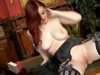 Babe Cute Natural Pussy Redhead Shaved Stockings Teen