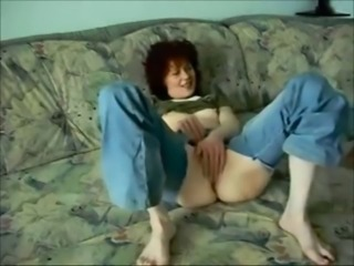Amateur Homemade Masturbating  Redhead Wife