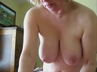 Mature wife jerking cock