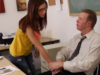 Cute Glasses School Teacher Teen