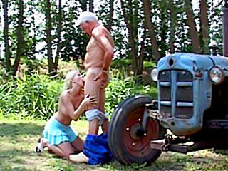Old dirty farmer fucks her bigtits blonde help