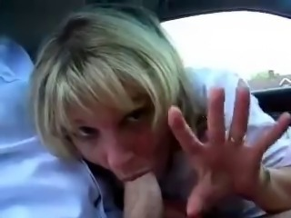 Amateur Blowjob Car Mature