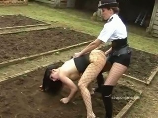 Jane is dressed as the police female and fucks the filthy nymph after forcing...