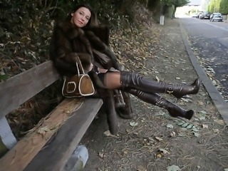 Amateur Amazing Legs Outdoor Public Teen