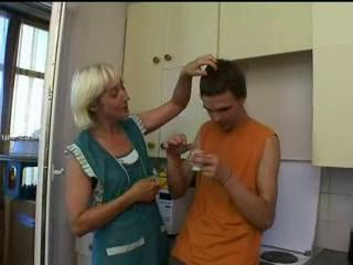 Mom And Son Hot Sex In The Kitchen