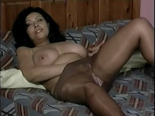 Big Tits Masturbating Mature Natural Pantyhose Solo