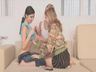 Three teen virgins fingering holes
