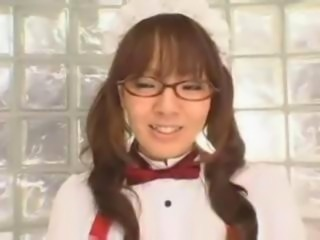 Asian Glasses Japanese Maid Teen Uniform