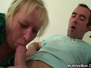 Hubby fucking his wife's mom.