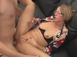 Mature sucks, spreads, gapes, spit roasted, fisted, anal, fucks and cum on...