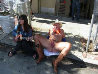 Amateur CFNM Old and Young Outdoor Public