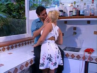 Blonde European French Kissing Kitchen