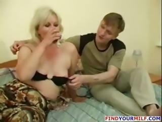 naughty lady seduced by fresh man