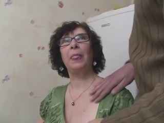 French BBW-Granny Olga hard fucked unconnected with young Arab