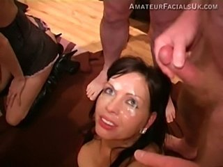 Amateur Bukkake Cumshot Facial Groupsex Teen