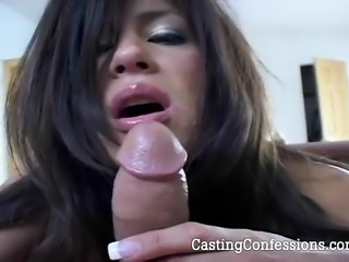 Check out Michelle show her amazing deepthroating talents during a real porn...
