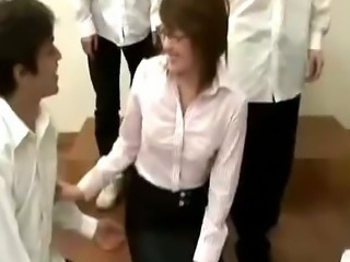 Asian Gangbang Japanese  Teacher