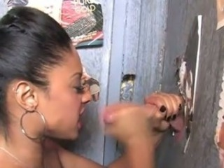 Ebony Gloryhole Handjob Teen