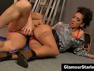 Euro lady milks cock dry after fucksome