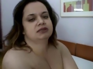 Bbw girl with big tits  fucks and sucks her boyfriend