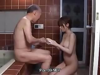 Asian Bathroom Cute Japanese Natural Old and Young Teen