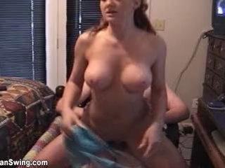 Mom fucks young cum inside