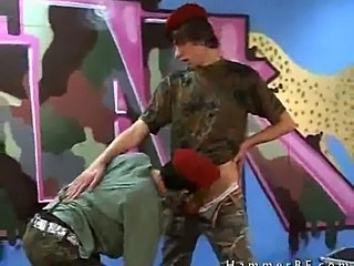 Two soldiers sucking