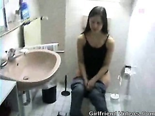 Amateur Girlfriend Homemade Teen Toilet