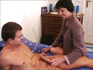 French Ancient Mom - Cum On Glasses