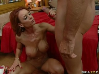 Smutty Red Haired Janet Mason Acquires Her Mouth Whacked By A Massive Bone