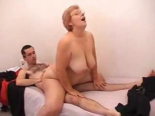 Busty Granny Gets A Younger Cock To Satisfy Her Horny Pussy