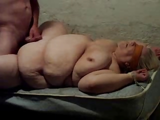 Bbw Granny Fucks On Table