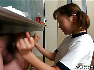 Asian Handjob Japanese Pigtail Teen Threesome