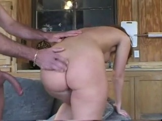 Hawt Tease Sasha Knox Eagerly Fills Her Horny Mouth With A Beefy Hard Cock