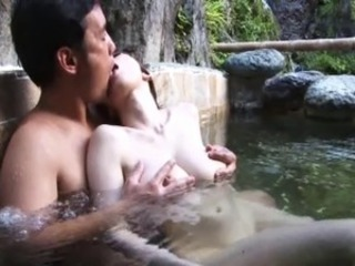 Asian Big Tits Japanese Kissing  Outdoor Pool