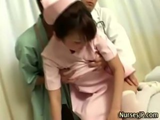 Asian Cute Japanese Nurse Teen Threesome Uniform