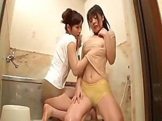 Asian Bathroom Cute Japanese Lesbian Masturbating Teen